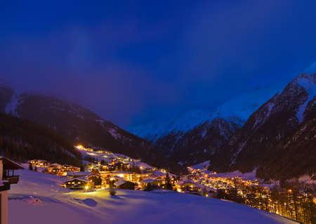 Mountains ski resort in Solden Austria