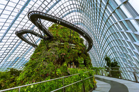 Cloud Forest Dome at Gardens by the Bay in Singapore