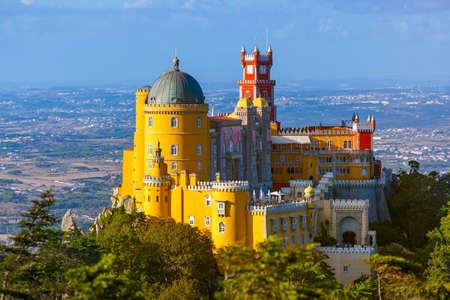 Pena Palace à Sintra - Portugal - architecture Banque d'images - 65531503