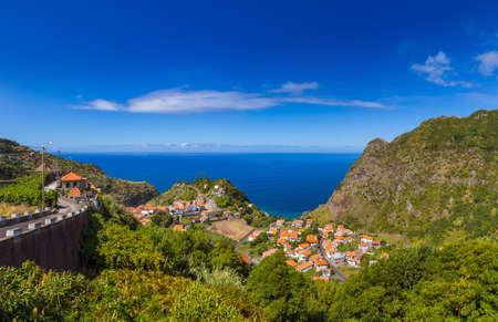 Wioska Boaventura w maderze Portugalia - podróżuje tło Zdjęcie Seryjne