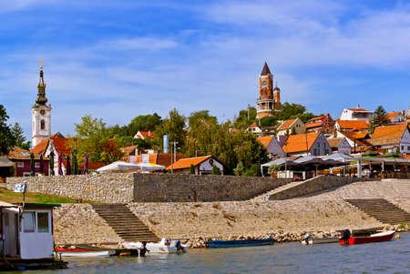 오래 된 마을 Zemun- 베오그라드 세르비아 - 아키텍처 여행 배경