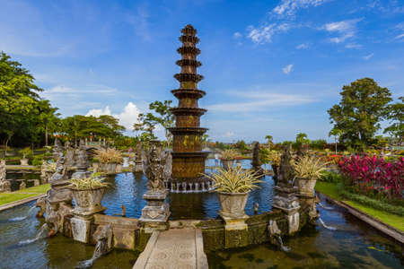 Water Palace Tirta Ganga in Bali Island Indonesia - travel and architecture background Stock Photo - 75523771