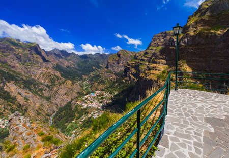 Viewpoint in mountains - Madeira Portugal - travel background