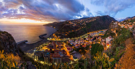 Town Ribeira Brava in Madeira Portugal - travel background