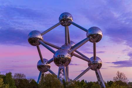 Atomium monument in Brussels Belgium - architecture background Editorial