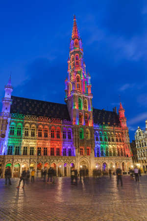 Grote Markt in Brussels Belgium - architecture background