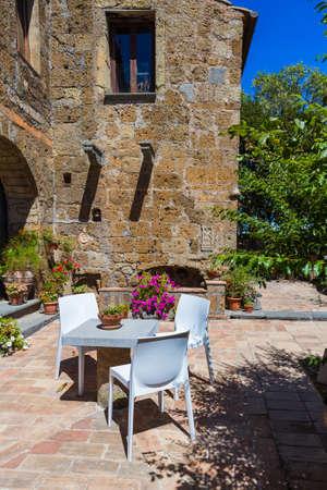 Village Civita di Bagnoregio in Italy - architecture background
