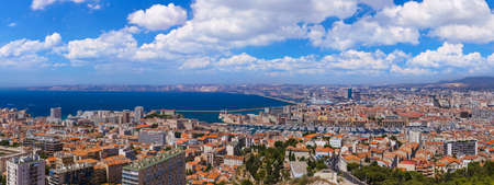 Marseille panorama - France - travel and architecture background Stock Photo
