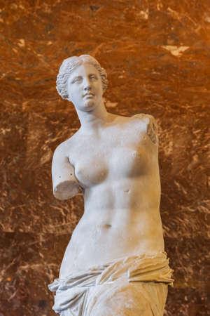 ミロのヴィーナス像の背景 写真素材