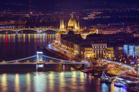 Parliament in Budapest Hungary - cityscape architecture background