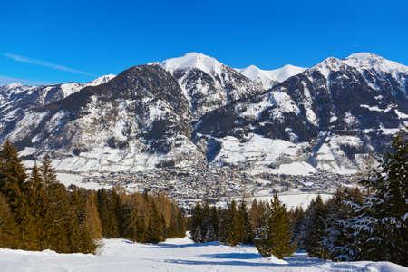 Mountains ski resort Bad Hofgastein Austria - nature and sport background Standard-Bild