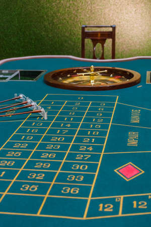 Roulette table in the casino - gambling background