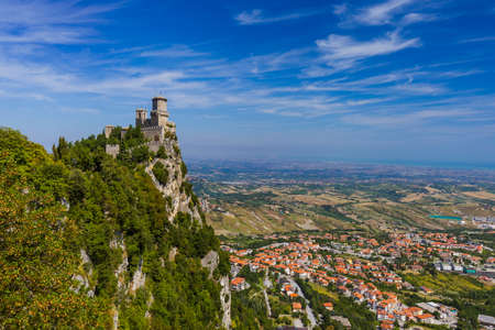 성 산 마리노 이탈리아 - 아키텍처 배경 스톡 콘텐츠