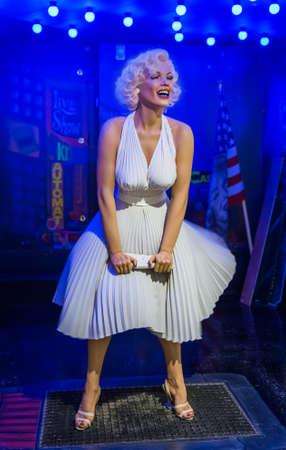 AMSTERDAM, NETHERLANDS - APRIL 25, 2017: Marilyn Monroe wax statue in sexmuseum on April 25, 2017 in Amsterdam Netherlands. Redakční