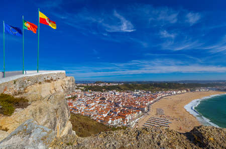 Beach in Nazare - Portugal - travel background
