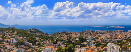 Marseille panorama - France - travel and architecture background Stock fotó