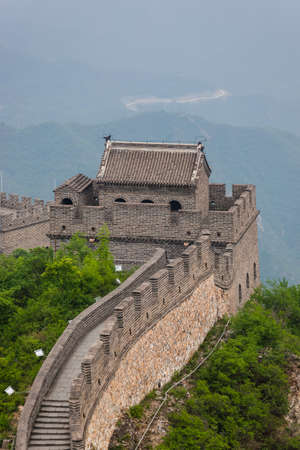 Great Wall of China at Badaling - Beijing - travel and architecture background