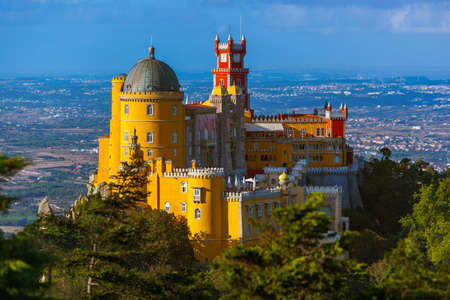 Pena Palace in Sintra - Portugal - architecture background