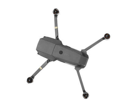 Quadcopter drone with camera - isolated on white background Stock fotó