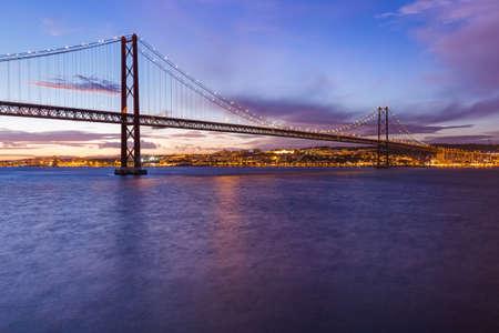 Lisbon Bridge, Portugal. architecture background Banque d'images