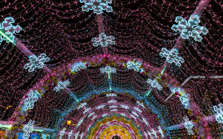 Christmas installation in Moscow Russia