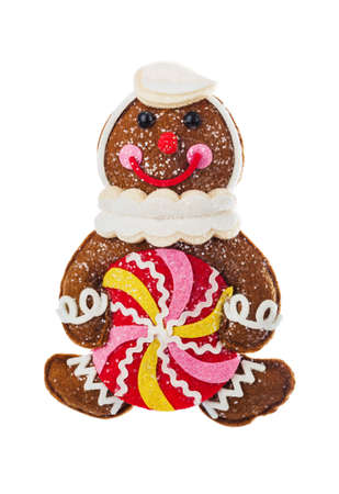 Toy Christmas decoration isolated on white background