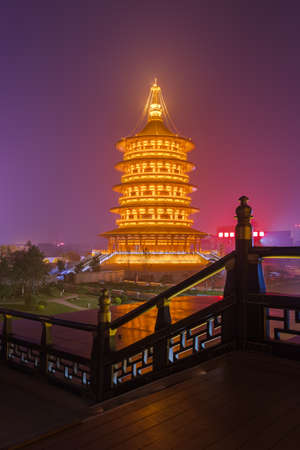 Luoyang City National Heritage Park - China - travel and architecture background
