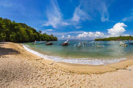 Padangbai Beach - Bali Island Indonesia - nature travel background 免版税图像