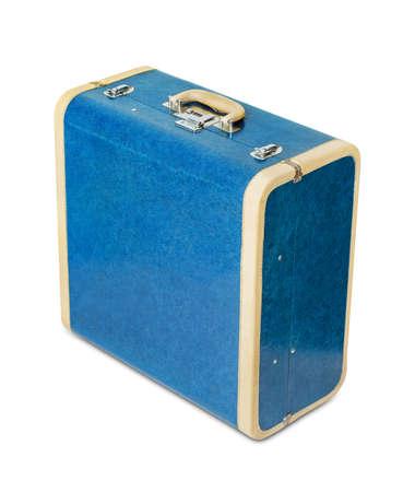 Vintage travel suitcase isolated on white background