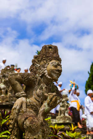 Pura Besakih temple - Bali Island Indonesia - travel and architecture background Stock Photo