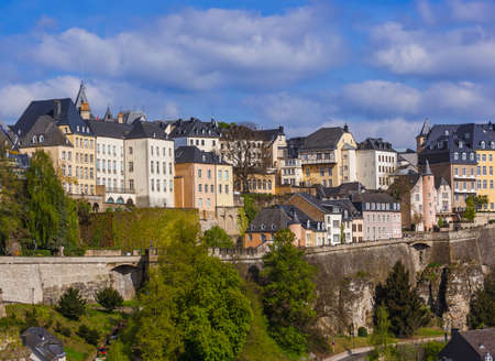 Luxembourg city cityscape - architecture background