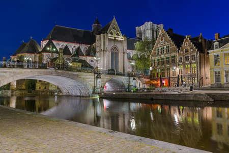 Gent cityscape - Belgium - architecture background Stock Photo