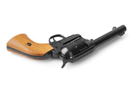 Gun revolver isolated on white background 免版税图像