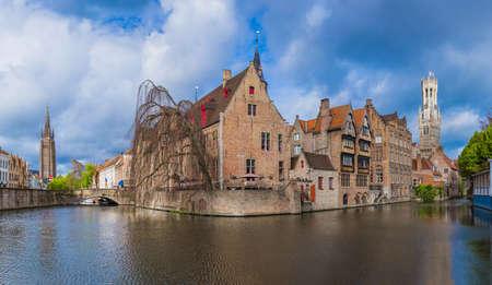 Brugge cityscape - Belgium - architecture background Imagens