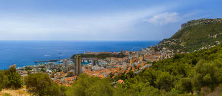 Panorama of Monaco - travel and architecture background