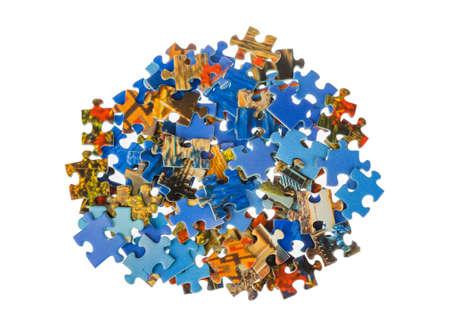 Puzzleteile isoliert auf weißem Hintergrund Standard-Bild