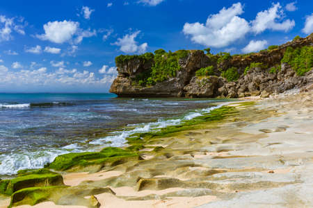 Balangan Beach in Bali Indonesia - nature vacation background 免版税图像