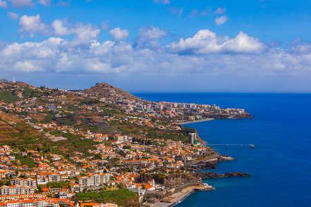 Town Camara de Lobos in Madeira Portugal - travel background Zdjęcie Seryjne