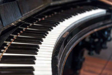 Vintage piano keyboard - musical background