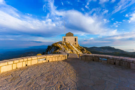 Lovcen Mountains National park at sunset in Montenegro 写真素材