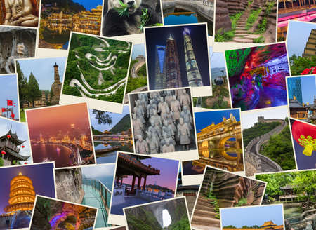 Collage of China travel and architecture images