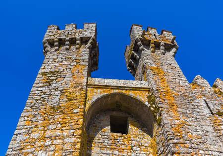 Castle in town Penedono - Portugal - architecture background