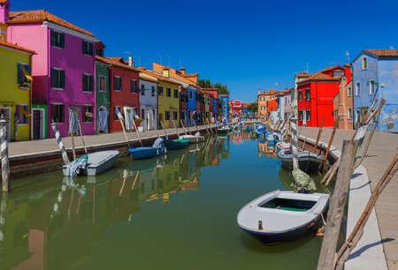 Burano village - Venice Italy - architecture background Stockfoto
