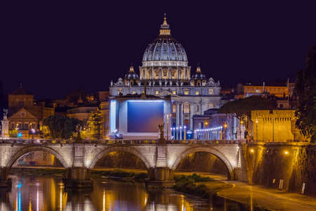 Sant Peters Basilica in Vatican - Rome Italy - architecture background