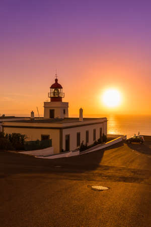 Lighthouse Ponta do Pargo - Madeira Portugal - travel background Imagens