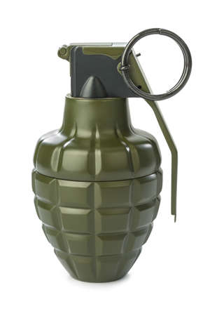 Hand grenade isolated on white background