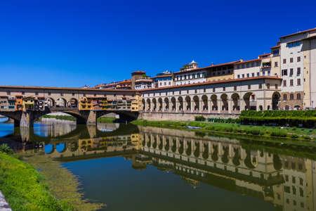Bridge Ponte Vecchio in Florence - Italy - architecture background