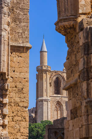 Lala Mustafa Pasha Mosque in Famagusta - Northern Cyprus - architecture background Reklamní fotografie