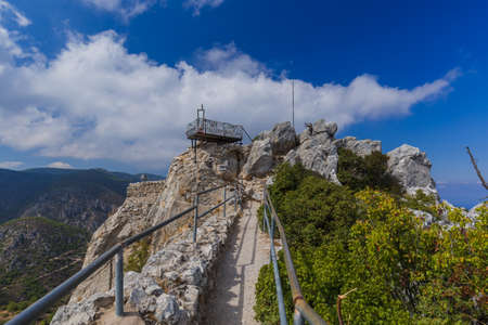 Top of Saint Hilarion Castle in Kyrenia region - Northern Cyprus - architecture background Reklamní fotografie