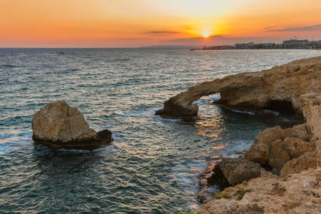 Lovers bridge at sunset in Ayia Napa Cyprus - nature background